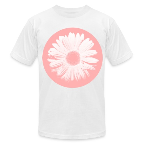 Pink Beige Circled Flower Graphic Print Premium T-Shirt - Men's Fine Jersey T-Shirt
