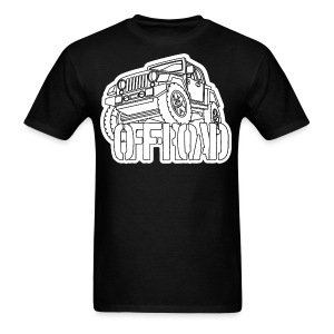 Outlined 4X4 off-road Jeep - Men's T-Shirt