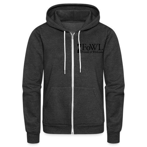 Friends of WikiLeaks Fleece Hoodie - Unisex Fleece Zip Hoodie
