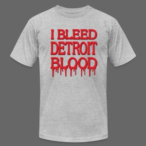 I Bleed Detroit Blood - Men's T-Shirt by American Apparel