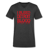 T-Shirts ~ Men's V-Neck T-Shirt by Canvas ~ I Bleed Detroit Blood