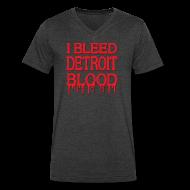 T-Shirts ~ Men's V-Neck T-Shirt by Canvas ~ I Bleed Detroit Blood