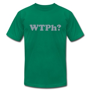 WTPh? Gray Type Men's AA - Men's T-Shirt by American Apparel