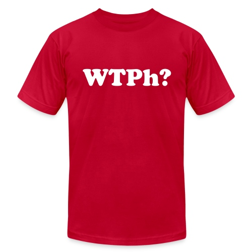 WTPh? White Type Men's AA - Men's T-Shirt by American Apparel