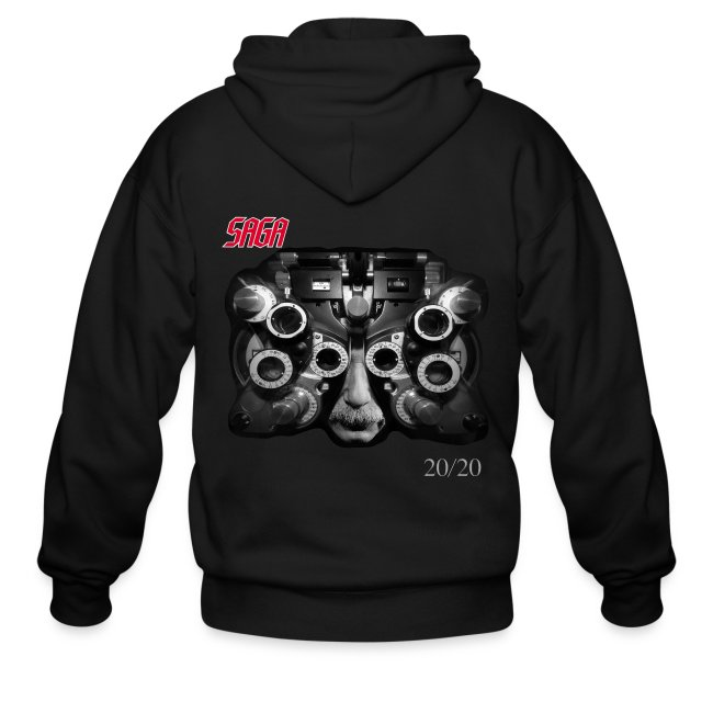 Saga 20/20 CD cover zipper hoodie!