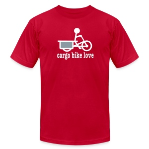 Longtail Cargo Bike Love - Men's T-Shirt by American Apparel