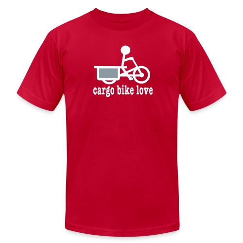 Longtail Cargo Bike Love - Men's  Jersey T-Shirt