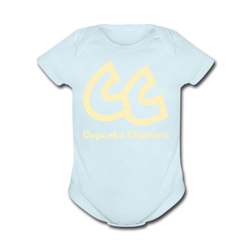 CC Cupcake Charlie's Baby   - Organic Short Sleeve Baby Bodysuit