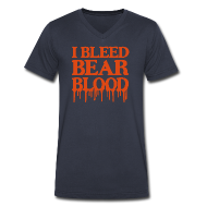 T-Shirts ~ Men's V-Neck T-Shirt by Canvas ~ I Bleed Bear Blood