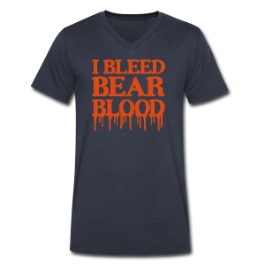 I Bleed Bear Blood - Men's V-Neck T-Shirt by Canvas
