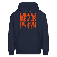 Hoodies ~ Men's Hoodie ~ I Bleed Bear Blood
