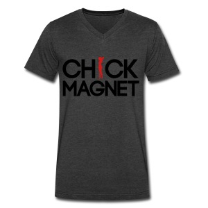 Chick Magnet T-Shirts - Men's V-Neck T-Shirt by Canvas