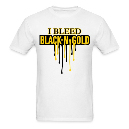 I Bleed Black and Gold - Men's T-Shirt