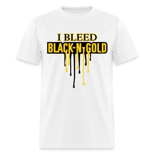 I Bleed Black and Gold - Men's T-Shirt