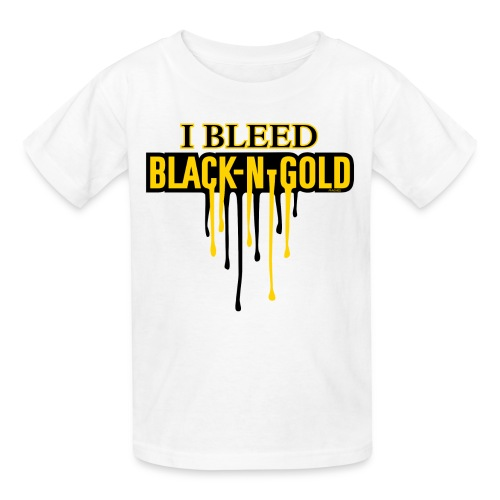 I Bleed Black and Gold - Kids' T-Shirt