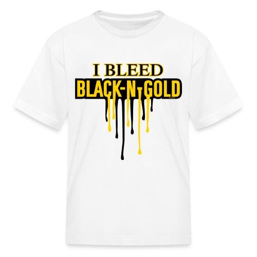 I Bleed Black and Gold - Kids' T-Shirt