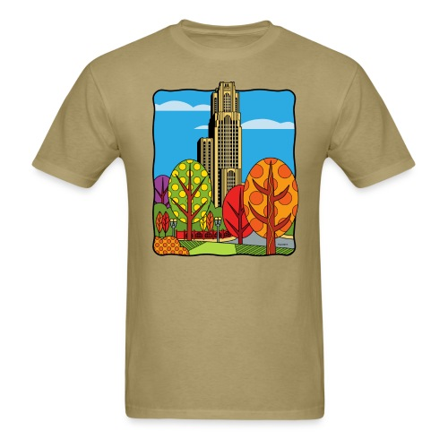 Cathedral of Learning University of Pittsburgh - Men's T-Shirt