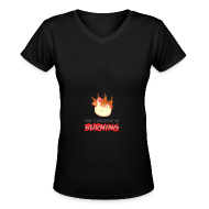 T-Shirts ~ Women's V-Neck T-Shirt ~ WOMENS Chicken Is Burning