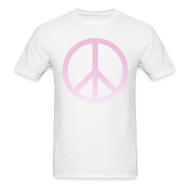 T-Shirts ~ Men's T-Shirt ~ PINK OMBRE PEACE SIGN - MENS TSHIRT