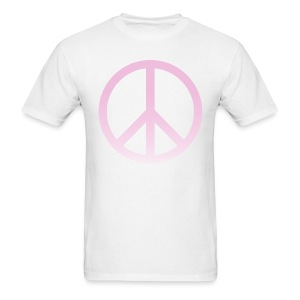 PINK OMBRE PEACE SIGN - MENS TSHIRT - Men's T-Shirt