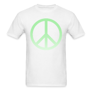 T-Shirts ~ Men's T-Shirt ~ MINT OMBRE PEACE SIGN - MENS TSHIRT