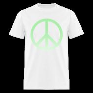 T-Shirts ~ Men's T-Shirt ~ MINT OMBRE PEACE SIGN - MENS TSHIRT
