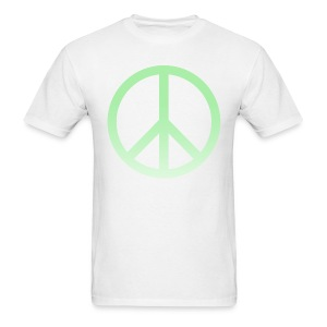 MINT OMBRE PEACE SIGN - MENS TSHIRT - Men's T-Shirt