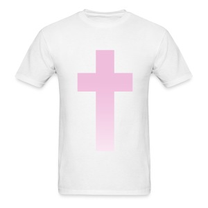 PINK OMBRE CROSS - MENS TSHIRT - Men's T-Shirt