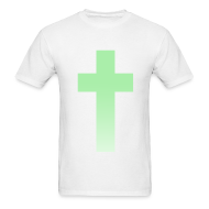T-Shirts ~ Men's T-Shirt ~ MINT OMBRE CROSS - MENS TSHIRT