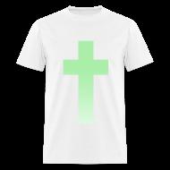 T-Shirts ~ Men's T-Shirt ~ MINT OMBRE CROSS - MENS TSHIRT