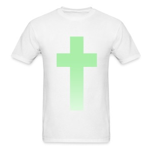 MINT OMBRE CROSS - MENS TSHIRT - Men's T-Shirt