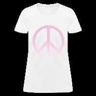 Women's T-Shirts ~ Women's T-Shirt ~ PINK OMBRE PEACE SIGN - LADIES TSHIRT