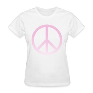 PINK OMBRE PEACE SIGN - LADIES TSHIRT - Women's T-Shirt