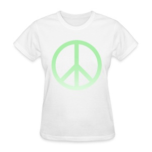 MINT OMBRE PEACE SIGN - LADIES TSHIRT - Women's T-Shirt