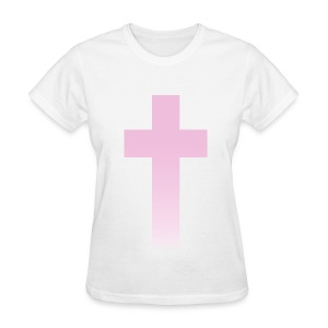 PINK OMBRE CROSS - LADIES TSHIRT - Women's T-Shirt