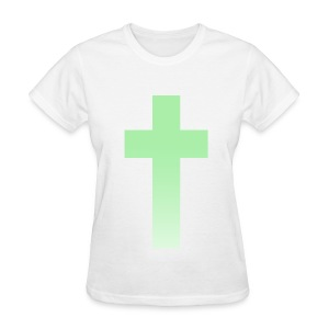 MINT OMBRE CROSS - LADIES TSHIRT - Women's T-Shirt