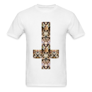 T-Shirts ~ Men's T-Shirt ~ INVERTED CAT CROSS - MENS TSHIRT