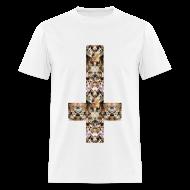 T-Shirts ~ Men's T-Shirt ~ INVERTED CAT CROSS - MENS TSHIRT
