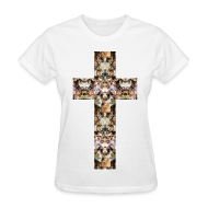 T-Shirts ~ Women's T-Shirt ~ CAT CROSS - LADIES TSHIRT
