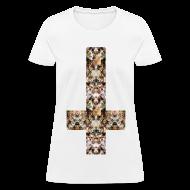 Women's T-Shirts ~ Women's T-Shirt ~ INVERTED CAT CROSS - LADIES TSHIRT