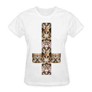 INVERTED CAT CROSS - LADIES TSHIRT - Women's T-Shirt