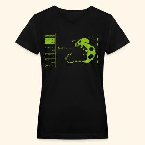 PETtype Screen - Women's V-Neck T-Shirt