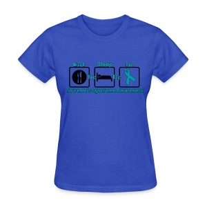 Tourette's EatSleepTic T-Shirt - Womens Standard Weight - Women's T-Shirt