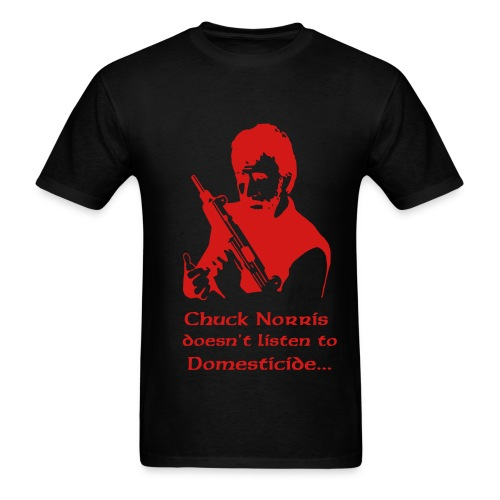 Domesticide/Chuck Norris 2-sided T - Men's T-Shirt