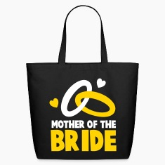 MOTHER OF THE BRIDE with cute love hearts and rings Bags