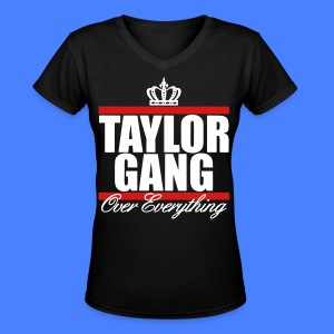 Taylor Gang Over Everything Women's T-Shirts - stayflyclothing.com - Women's V-Neck T-Shirt