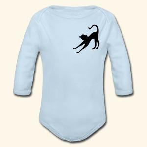 Cat cutie stretching by patjila2 - Long Sleeve Baby Bodysuit