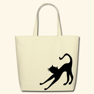 Cat cutie stretching by patjila2 - Eco-Friendly Cotton Tote