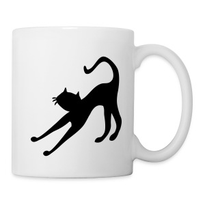 Cat cutie stretching by patjila2 - Coffee/Tea Mug