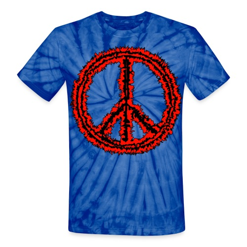 peace and love - Unisex Tie Dye T-Shirt